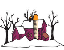 Casa del invierno imagen de archivo libre de regalías