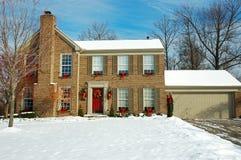 Casa del invierno Imagenes de archivo