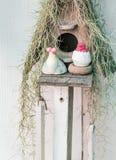 Casa del jardín de la decoración del pájaro Imagen de archivo libre de regalías