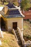 Casa del jardín en Pragues Fotos de archivo libres de regalías