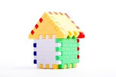 Casa del juguete del rompecabezas Fotos de archivo libres de regalías