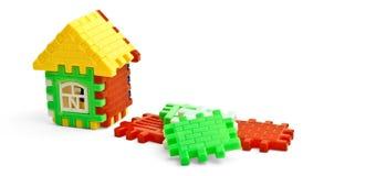 Casa del juguete del rompecabezas Imagen de archivo