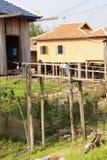 Casa del Khmer empleada los zancos Imagen de archivo libre de regalías