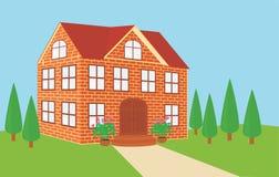 Casa del ladrillo stock de ilustración