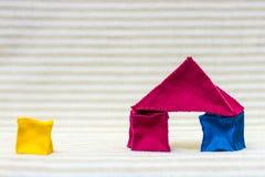 Casa del ladrillo del juguete Fotos de archivo
