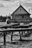 Casa del lago Imagen de archivo libre de regalías