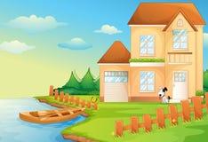 Casa del lago ilustración del vector