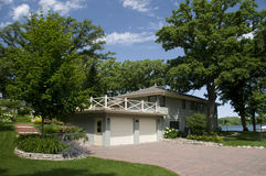 Casa del lago en Iowa Fotos de archivo