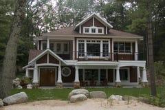 Casa del lago michigan Imagenes de archivo