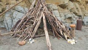 Casa del legname galleggiante Fotografia Stock