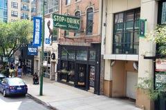 Casa del licor de la parada y de la bebida, Chicago, Illinois fotografía de archivo libre de regalías