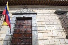 Casa del luogo di nascita di Simon Bolivar, Caracas, Venezuela Immagine Stock Libera da Diritti