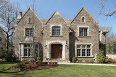 Casa del lusso del mattone del Brown Immagine Stock