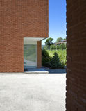 casa del mattone moderna Fotografie Stock Libere da Diritti
