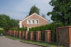 Casa del mattone rosso Immagini Stock
