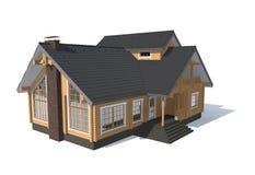 casa del modello di architettura 3D Immagini Stock Libere da Diritti