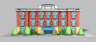 casa del modelo de la arquitectura 3D Fotos de archivo