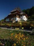 Casa del monastero di Barsana vecchia Immagine Stock