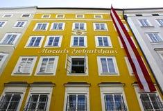 Casa del nacimiento de Mozart Imagen de archivo libre de regalías