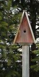 Casa del pájaro en los posts foto de archivo libre de regalías