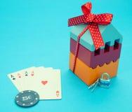 Casa del póker y del triunfo del juego Concepto de juego del casino fotos de archivo libres de regalías