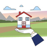 Casa del paese Immagine Stock