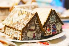 Casa del pan de jengibre para la Navidad Fotos de archivo libres de regalías