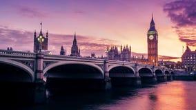 Casa del parlamento, día a la noche, Inglaterra metrajes