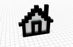 Casa del pixel royalty illustrazione gratis