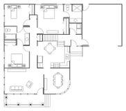 Casa del plan de piso Fotos de archivo libres de regalías