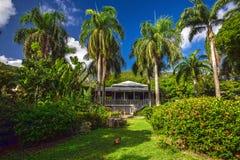 Casa del plantador en jardín botánico Ciudad del camino, Tortola imagenes de archivo
