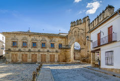 Casa del Populo, Baeza, Spain. Casa del Populo is 16th-century building in the plateresque style, Baeza, Spain royalty free stock images