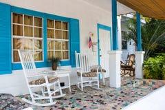 Casa del portico Fotografia Stock