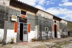 Casa del pueblo en Hong Kong Imágenes de archivo libres de regalías