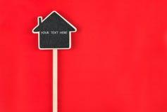 Casa del puntatore con spazio per il vostro testo Fotografia Stock