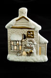 Casa del pupazzo di neve Fotografia Stock Libera da Diritti