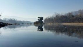 Casa del río de Drina Foto de archivo libre de regalías