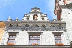 Casa del renacimiento - ayuntamiento Fotos de archivo libres de regalías