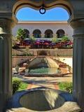 Casa Del Rey Moro Garden as seen through column framing Royalty Free Stock Image
