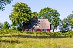 casa del Ricoprire di paglia-tetto Fotografia Stock
