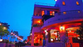 Casa del Rio kawiarnia obrazy royalty free