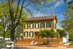 Casa del ` s di Abraham Lincoln Fotografia Stock Libera da Diritti