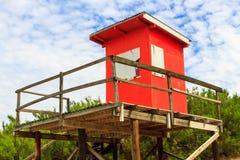 Casa del salvavidas Foto de archivo libre de regalías