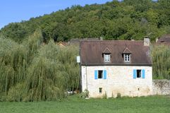 Casa del Santo-Amand-de-Coly Foto de archivo libre de regalías