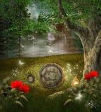 Casa del secreto de los duendes Fotos de archivo libres de regalías