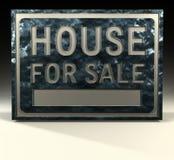Casa del segno di Info da vendere Immagine Stock