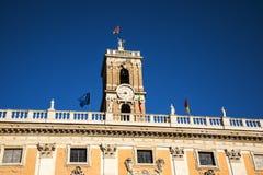 Casa del senado en la colina de Capitoline en Roma Italia Imágenes de archivo libres de regalías