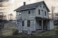 Casa del siglo XIX de la granja Imagen de archivo libre de regalías