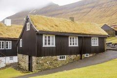 Casa del tejado de la hierba Imagen de archivo libre de regalías