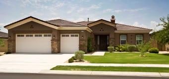 Casa del tratto, California moderna e del sud Fotografia Stock